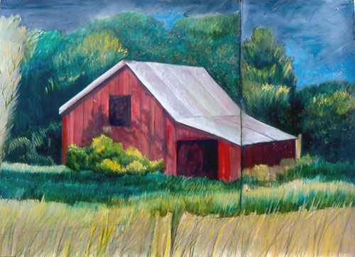 Red Barn, Golden Grasses