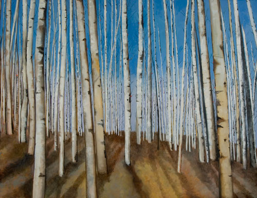 Aspen Trees in Winter I