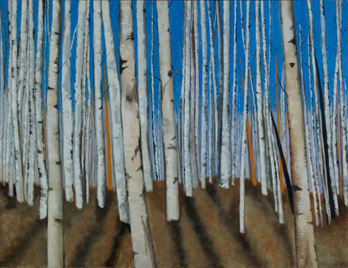 Aspen Trees in Winter II